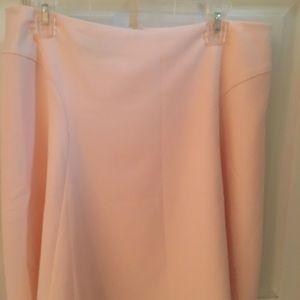 Beautiful light pink lined circle skirt by Talbots